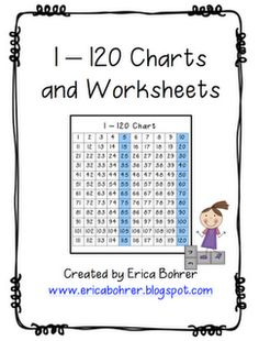 Erica Bohrer's First Grade: Math. . . but I Would Turn The Worksheets Into Hands On Activities! we will need this for next year- going to 120