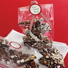 Chocolate bark - 3 ingredients, makes 14 Christmas gifts for under $10 total.