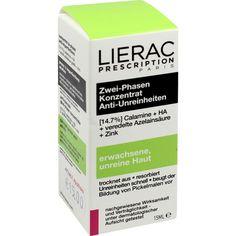 LIERAC Prescription Zwei-Phasen Konzentrat:   Packungsinhalt: 15 ml Konzentrat PZN: 02455727 Hersteller: Ales Groupe Cosmetic Deutschland…