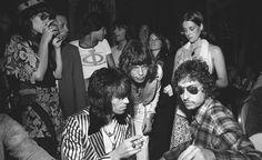 Keith Richards, Mick Jagger and Bob Dylan