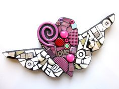 Love An Original Contemporary Mixed Media Mosaic by by ShawnDuBois, $33.00