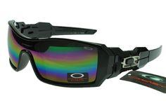 b2fda66e09 Oakley Flak Jacket Sunglasses Black Frame Rainbow Lens 0354  ok-1354  -   12.50