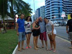 Edvaldo, Célia, Vanessa, Ana Cláudia, Edmilson Frank. Em Maceió - Alagoas.