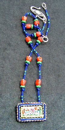 Rectangular Mosaic Necklace by Mary Hicklin (Virgo Moon).