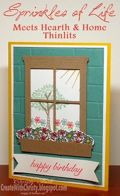 Stampin' Up! Sprinkles of Life and Hearth & Home Thinlits Birthday Card - Create With Christy - Christy Fulk, Stampin' Up! Demo