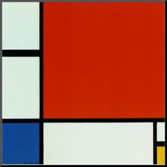 Piet Mondrian - Composition II in Red, Blue, and Yellow 1930