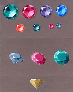 Vintage Jewelry Inc Gem Drawing, Jewelry Illustration, Diamond Illustration, Jewelry Design Drawing, Jewellery Sketches, Technical Drawing, Elements Of Art, Sketch Design, Gouache