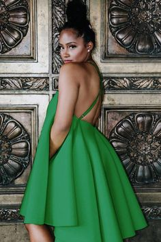 It will be hard to stop twirling in this ultimate volume flirty flare dress that meets sexy cross back straps. As seen on Angela Simmons & Dana Chantel. Fabric Content: Self: Neoprene Dry Clean Only Size & Fit: Model is wearing a U. Fashion Line, Unique Fashion, Style Fashion, Strapless Dress, Prom Dresses, Wedding Guest Style, Flare Top, Formal Looks, Classy Dress
