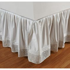 Ruffled Cutwork 18-inch Bedskirt - Overstock™ Shopping - Top Rated Cottage Home Bedskirts Description says this is white. $107.09
