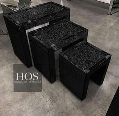 Looking for something truly unique for your space? Dark glamour has never looked better with our stunning Black Mirror Crush Nest of Three Side Tables.. What do you think? - Shop this and the entire Black Mirror Crush Collection now! Speak to the team on 01184677806 or shoponline now with Interest Free Credit options available at checkout! https://www.houseofsparkles.co.uk/collections/black-diamond-crush - #black #mirror #diamond #dark #glamour #table #homedeco #homedetails #interior_design…