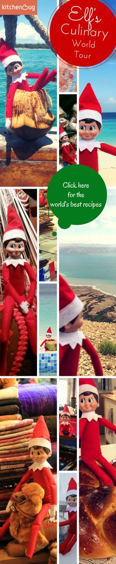 JOIN this year's Elf on the shelf's World Culinary Tour! Christmas is coming and Elf on the shelf travels the world, looking for the best places to eat and drink. Check out his favorite dishes and collect them to your Kitchenbug recipe box. https://www.kitchenbug.com/kb/elf-on-the-shelf-culinary-world-tour/