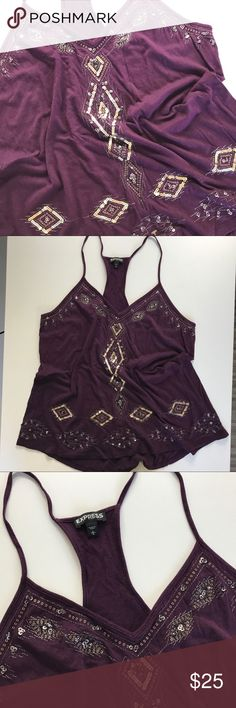 Express Tank Top! Great condition sparkle fashion top! Only worn twice! Make me an offer!! Express Tops Tank Tops