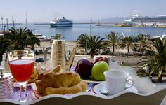 My favourite breakfast at Hotel Miramare, Cagliari Sardinia....what a fab place!