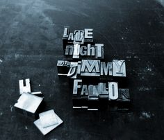 Late Night with Jimmy Fallon #typography