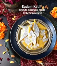 Badam Katli/Almond Flour Barfi in 3 minutes – Food, Fitness, Beauty and More Egg Free Desserts, Eggless Desserts, Indian Desserts, Holi Recipes, Diwali Recipes, Diwali Food, Easy Indian Recipes, American Kitchen, Five Ingredients