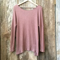 Cross On Over Sweater,Dusty Rose
