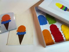 Color game ice cream - made by Chana http://pinterest.com/pin/490822059359050676/