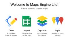 Google Maps Engine Lite: A new free custom map editor from Google.