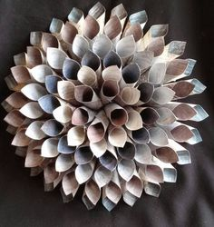Check out this item in my Etsy shop https://www.etsy.com/listing/227211231/14-dahlia-style-paper-wreath-shades-of