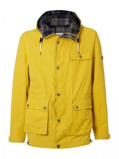 Ben Sherman Whitewater Hooded Cagoule #fashion #bensherman #jacket #yellow #beautiful