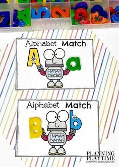 Robot Alphabet Letter Match! - Robot Morning Tubs