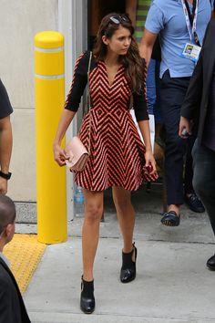 Nina Dobrev carrying the SHADOW cross body bag in San Diego motivation!!!!