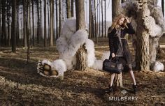 Where the Wild Things Are. Lindsey Wixson. Mulberry fall 2012 campaign. Blackheath Forest in Surrey, England
