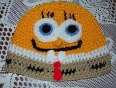 Cats-Rockin-Crochet Fibre Artist.: Not Sponge Bob Square Pants Crochet Hat