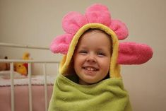 DIY Hooded Towel : DIY Flower Hooded Towel