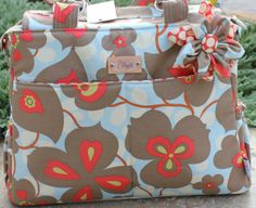 Large Diaper Bag FREE SHIPPING Amy by PureNSimpleCreations on Etsy, $189.00