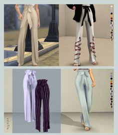Chateau Tied Pants for The Sims 4 by Volatile Sims