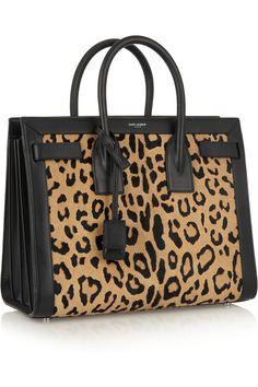 Saint Laurent Sac De Jour leopard-print calf hair and leather tote NET-A-PORTER.COM