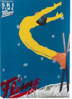 Flims Ski Poster - diy cyo personalize design idea new special Vintage Ski Posters, Ski Decor, Vintage Winter, Snow Skiing, Ski And Snowboard, Blog Design, Vintage Advertisements, Illustrations Posters, Swiss Ski