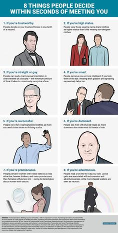 People Decide These 8 Things About You in Just Seconds #INFOGRAPHIC