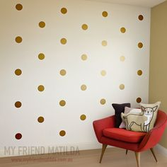 simple wall gold wall decals