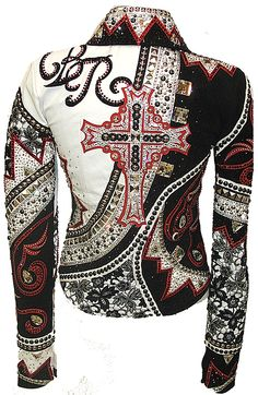 Love the subtle initials Cowgirl Outfits, Western Outfits, Western Shirts, Western Show Clothes, Horse Show Clothes, My Horse, Horse Tack, Rock Star Outfit, Showmanship Jacket