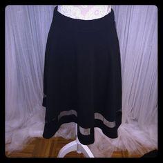 Black racer skirt Black racer skirt with mesh detail. Brand new! Skirts Circle & Skater