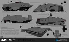 ArtStation - ILM Art Department Challenge- The Ride - Containment Ship (AC-AT)…