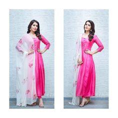 Silk Kurti Designs, Churidar Designs, Kurti Designs Party Wear, Kalamkari Dresses, Anarkali Dress, Frock Fashion, Women's Fashion Dresses, Dress Neck Designs, Blouse Designs