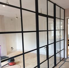 Internal Crittal Screens Glass Partition, Internal Doors, Glass Partition Wall, Screen, House, Crittall, Kitchen Layout, Home Decor, Glass Room