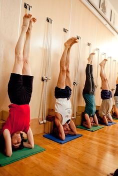 headstand with blocks