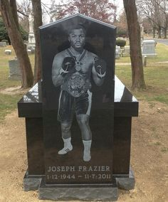 "Grave Marker- (""JOE FRAZIER"") ... Olympic Heavyweight Boxer. Frazier's private funeral took place on November 14 at the Enon Tabernacle Baptist Church in Philadelphia and in addition to friends and family was attended by Muhammad Ali, Don King, Larry Holmes, Magic Johnson, Dennis Rodman, among others. He was later buried at the Ivy Hill Cemetery. (More go to: http://www.thefuneralsource.org/deathiversary/november/07.html✿⊱╮)"