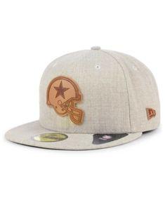 2151a751b6cbf5 Dallas Cowboys Heathered Helmet 59FIFTY Fitted Cap