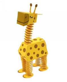 Cartoon Giraffe Design 3D DIY Papermodel Model Puzzle Toy Papercraft Toy Figures children day