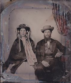 Dressed Up Couple Ambrotype by LJMcK, via Flickr