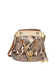 CamillePython Crossbody Bag, Pink by Chloe at Bergdorf Goodman.