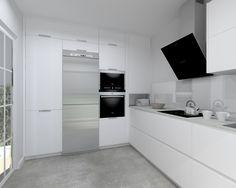 Modelo Minos Laminado Seda Blanco | Encimera Neolith Cement Modern Kitchen Renovation, Kitchen Remodel, Luxury Kitchen Design, Interior Design Kitchen, Kitchen Cabinet Organization, Kitchen Cabinets, Lounge Diner Ideas, Kitchen Layout, Home Kitchens