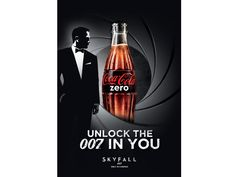 Coca Cola Zero - James Bond Skyfall Limited Edition Bottles & Cans