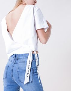 Fantasy top with crossover back detail - LAB COLLECTION - WOMAN | Stradivarius Spain