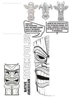 Native American Totem Pole Worksheet